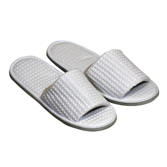 Cotton Waffle Weave Slippers